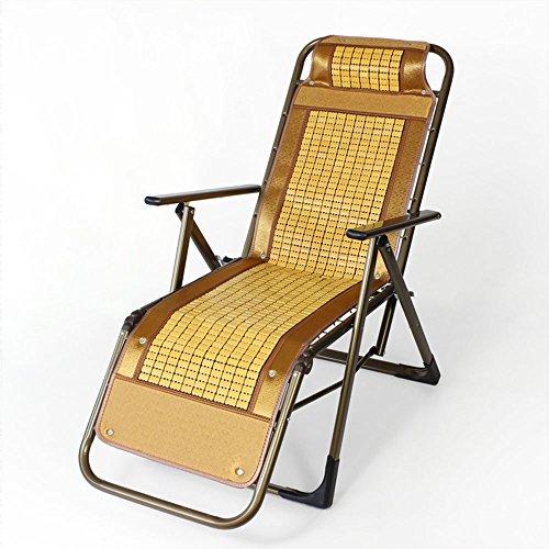 Chaise de bambou à chaise à mahjong respirant pour ménage Chaise d'après-midi Chaise pliante Chaise arrière de loisirs (Style optionnel) (Couleur : C)