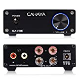 CAHAYA Amplificatore di Potenza Audio Digitale 32V HiFi Mini Stereo Integrato Amplificatore Musicale Puro per Altoparlanti con Alimentatore Nero