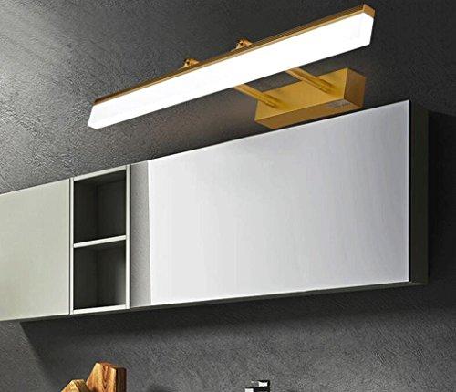hyl Lampada specchio d\'oro a led Bagno Specchio bagno Specchio per ...