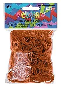 Rainbow Loom 20815 - Original Gummibänder, 600 Bänder mit 24 C - Clips, karamell