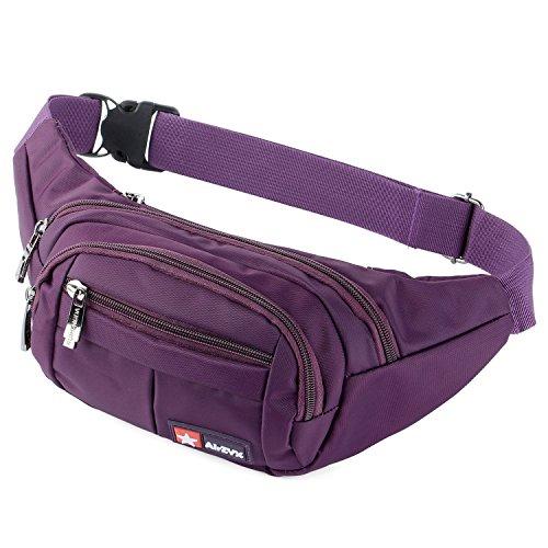 AirZyx Wasserdichte Bauchtasche Geeignet für Reise, Sport & alle Outdoor Aktivitäten, Hüfttasche für Damen und Herren, Bauchtasche Wasserdicht Hüfttaschen für Running (Violett)