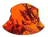 Roffatide Unisexe Camouflage d'Oak Modèle Pêche Chasse Chapeau de Seau Bobs Chapeau de Soleil