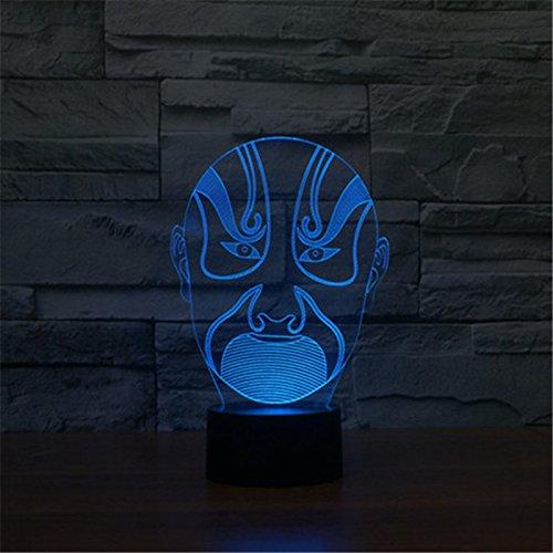 Weihnachten Valentinstag Hochzeit und Geburtstag Geschenke 3D-Tabelle Touch Lampe 7 bunte Farbe ändern Nachtlicht für Kinder und Jugendliche Männer gesichtspflege make-up von Peking Oper