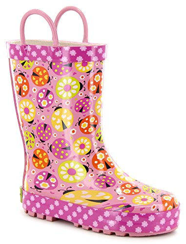 Western Chief Kids Womens Limited Edition Ladybug Garden Rain Boot (Toddler/Little Kid)