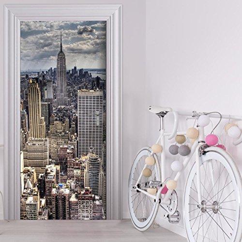 Türtapete selbstklebend TürPoster - SKYLINE New York - Fototapete Türfolie Poster Tapete