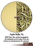 Origin Ceylon Tea 100g Bester Weißer Tee Silver Tips direkt von der Plantage aus Sri Lanka (100 Gramm Loser Tee)