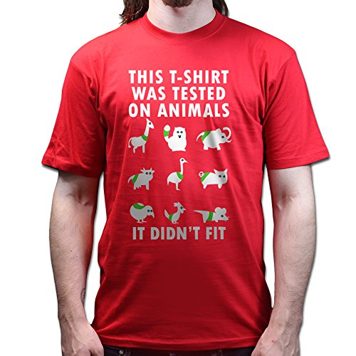 Tested On Animals Doesn't Fit Funny T-shirt Rot