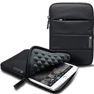GreatShield VIES [Travel Friendly | Shockproof] Neoprene Sleeve Case for 7 to 8-inch Tablets - Fits Apple iPad Mini, Galaxy Tab 7, Nexus 7, LG, Asus Tablet - Black