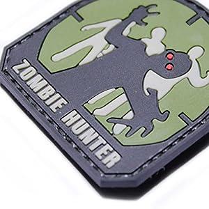 Patch PVC Airsoft Velcro Zombie Hunter Vert