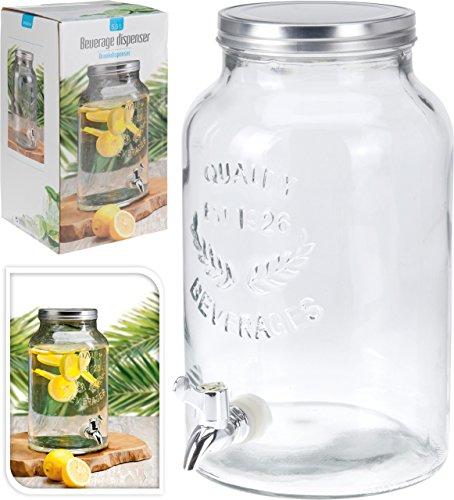5.5lt Tornillo Superior de vidrio Bebida Bebidas dispensador de servir Fiesta tarro con tap