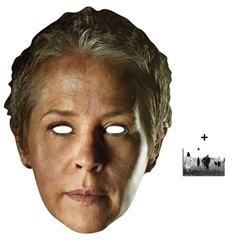 Carol Peletier The Walking Dead Single Karte Partei Gesichtsmasken (Maske) Enthält 6X4 (15X10Cm) (Walking Dead Kostüm Einfach)