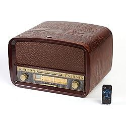 Nostalgia centro de música Tocadiscos retro radio CD MP3USB sistema de música