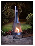 Jardin Deluxe bûches Brûleur Foyer et cheminée chauffage d'extérieur Noir 120cm