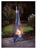 Garten Deluxe Log Brenner Feuerstelle & Kamin Outdoor Heizung schwarz 120cm