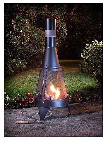 Deluxe Brasero de jardin en forme de bûche cheminée &