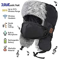 Bluetooth hat, trooper trapper hat Built-in HD Stereo Speakers & Microphone With Rechargeable USB For Winter Fitness Outdoor Sports & Christmas Gifts