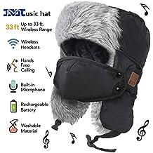 HANPURE Sombrero de Invierno, Unisex, con Bluetooth, con Panel de Control, Auriculares