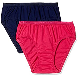 Fruit of the Loom Women's Plain Cotton Hipster (Pack of 2)
