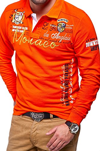 MT Styles Langarm Poloshirt MONACO Polo MP-450 Orange