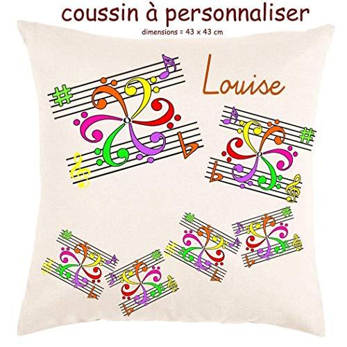Coussin avec sa Housse Toucher très Doux Mandala Personnalisable avec un Prénom Exemple Louise