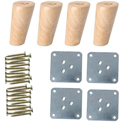 Sourcingmap - Patas de madera maciza para muebles
