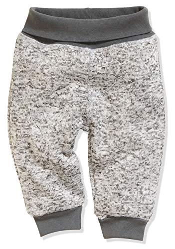Schnizler Unisex Baby Pump-Hose Strickfleece Mit Strickbund Jogginghose, (Grau 33), 92 (Kleidung Kleinkind Jungen)