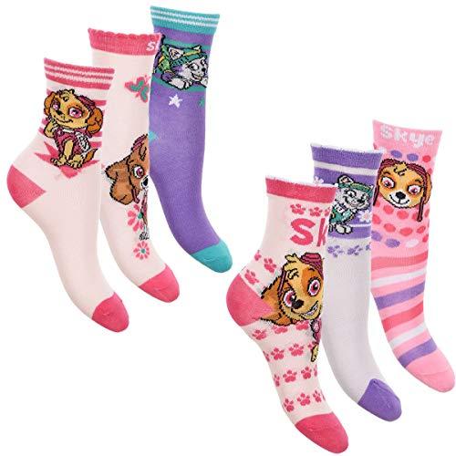 513a60a77d655 6er Pack Mädchen Socken Strümpfe Paw Patrol mit vielen verschiedenen ...