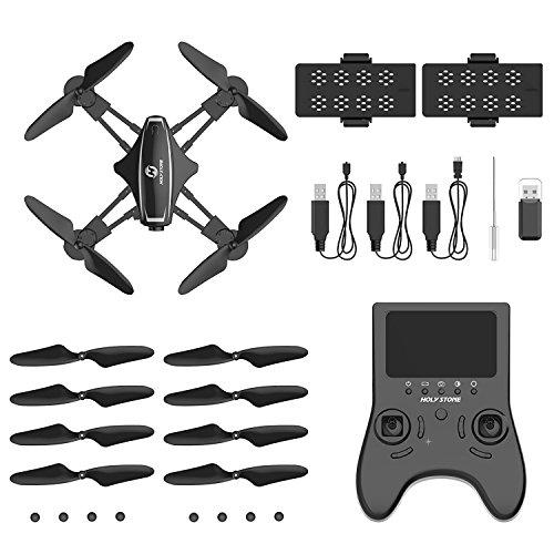 Holy Stone HS230 Drone RC FPV con 120 ° FOV 720P HD Droni Camera Live Video 45Km / h Quadcopter ad Alta velocità di Resistenza al Vento con Schermo LCD 5.8G Trasmettitore in Tempo Reale - 8