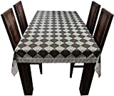 Casa Furnishing 6 Seater Pvc Table Cover; Printed Floral; 60X90 Inches Dining Table Cover 6 Seater Fabric-5[Cross Brown]