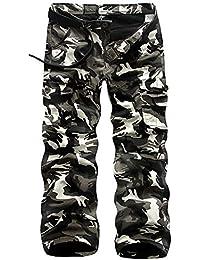 53f0a5b9788e Herren Cargohose Thermohose Arbeitshose Multi-Pocket Warm Fleece Gefüttert  Militär Hose Camouflage Hiking Sport Casual