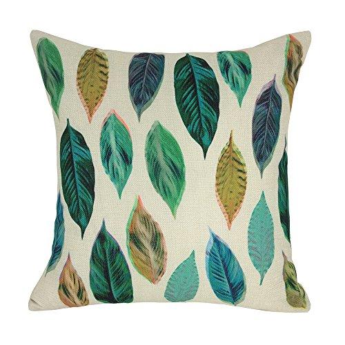 Coolsummer foglie e rami tessuti tiro cuscino lino federa, stampa digitale auto cuscino decorativo, federe 45,7x 45,7cm, Lino, 45Y1, 18 X18
