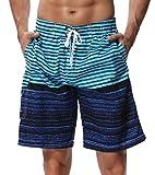 SHEKINI Herren Badeshorts Badehose Beach Shorts Bermuda Shorts Sommer Strand Sport Shorts Größen 28-36 (34, Hellblau)