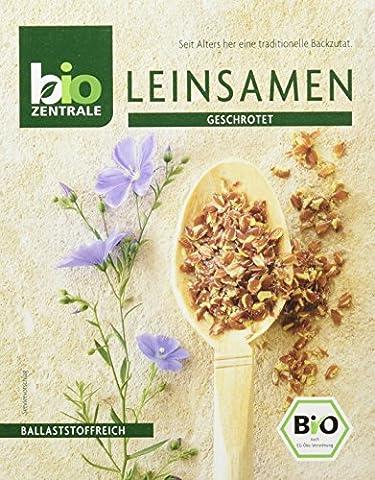 biozentrale Leinsamen geschrotet, 11er Pack (11 x 200 g) (Leinsamen Geschrotet)