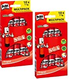 PRITT Lot de 2 Lots de 10 Bâtons de colle 11g en multi-pack, sans solvants