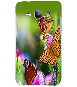 PrintDhaba Butterflies D-2331 Back Case Cover for SAMSUNG GALAXY J1 (Multi-Coloured)