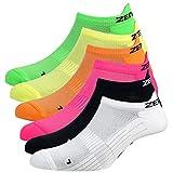 Zen Core Sneaker Füßlinge - Sportsocken für Damen anatomisch angepasst, 6er Pack, Größe 35-37 und 38-41 für Fitness, Freizeit, Laufen, Fahrradfahren