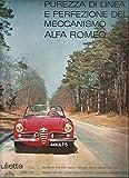 Publicité ancienne ( advertissing ) Giulietta Alfa Roméo Milan vers 1950