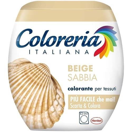 Coloreria Italiana Grey Colorante Tessuti e Vestiti in Lavatrice, Beige, 1 Confezione