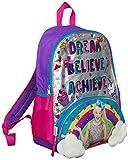 JoJo Siwa Bow Backpack Ruck Sack Sholder Bag Large Poket Print Back Pack Arco iris, nubes y purpurina Detalles Perfect School, Holiday o Dance Bag