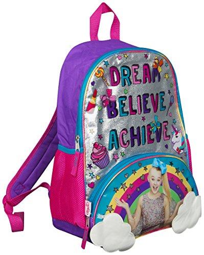 JoJo Siwa Bow Rucksack Ruck Sack Sholder Bag Großer Poket Print Rucksack Rainbow, Clouds and Glitter Details Perfekte Schul-, Feiertags- oder Tanztasche -