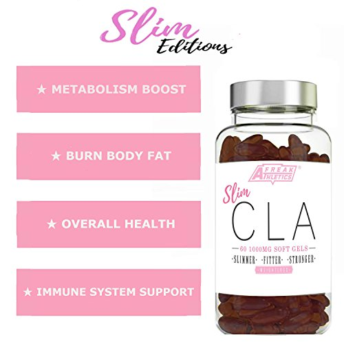 510Q42CD7rL. SS500  - Sim CLA - 60 x 1000mg Maximum Strength CLA Capsules - CLA Tablets To Help Boost Metabolism, Blast Stubborn Body Fat & Support Overall Health - Made in the UK - Includes FREE Fat Buster Workout Program