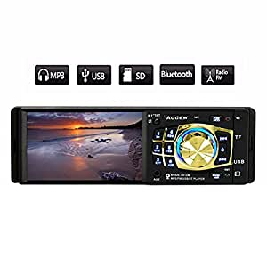 Audew Autoradio Bluetooth Stereo Auto 1 Din Lettore MP3/MP5 AUX TF USB FM 4.1'' 12V