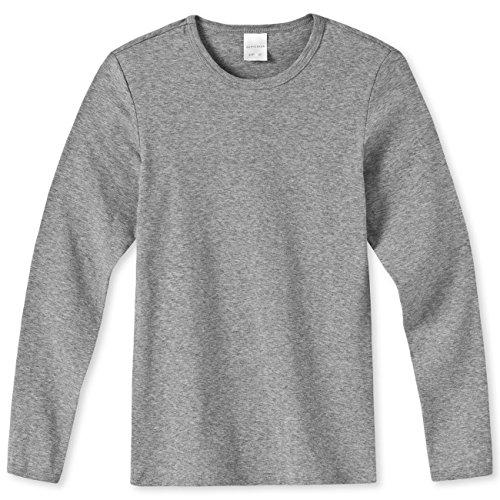 SCHIESSER Kids Boys langarm Shirt Modern Rib 134527 3er Pack, Farbe:Grau-Melange (202);Größe:164 (Rib 3-pack Jungen)