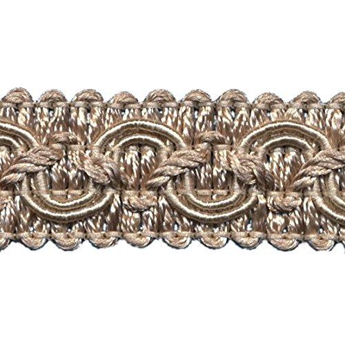 5,0 m Posamentenborte Breite 16 mm Farbe Altgold Beige (1,1 €/m) 5m,10m,15m uzw Brokatborten Dekoborte Fransen Brokat Spitze Barock