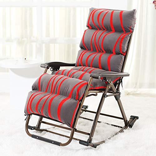 HAIZHEN Chaise longue Fauteuils à bascule, fauteuils à bascule de jardin à bascule avec repose-pieds ajustable et dossier inclinable, dossier inclinable, pour support de patio, poids max. pour cour ex