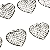 D DOLITY 20 Stücke Deko-Herz Anhänger Hochzeit Dekoration Deko-Hänger Herzhänger für Schmuckherstellung - 4