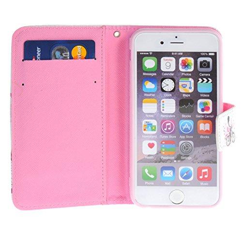 """MOONCASE pour iPhone 6 / 6S (4.7"""") Case Cuir Portefeuille Étui à rabat Case Coque en Housse de Protection YZ20 YZ19 #1228"""