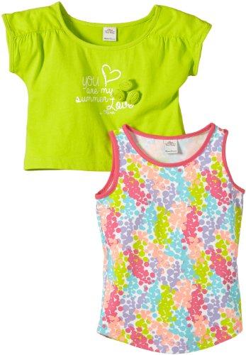 s.Oliver Mädchen T-Shirt 53.404.32.2515, Einfarbig, Gr. 116 (Herstellergröße: 116/122), Grün