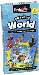 Brain Box - On The Go World, Juego de Mesa en inglés (90081)