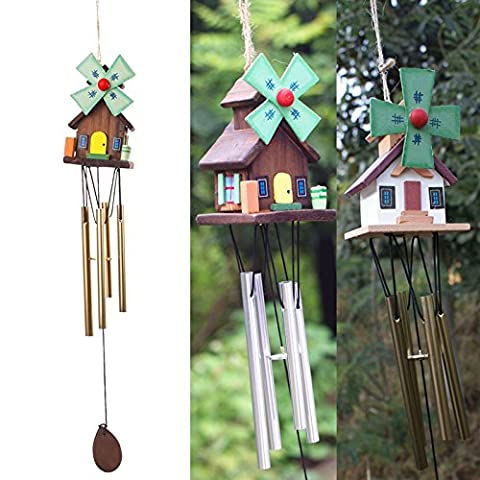 SunHug (TM) Vente chaude chinoise Yunnan Unique Windmill Copper Log-cabin M¨¦tal Wind Chimes Rustic Mignon # 69713